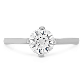 Deco Chic Solitaire Engagement Ring