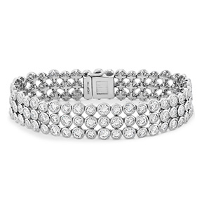 HOF Triple Bezel Diamond Bracelet
