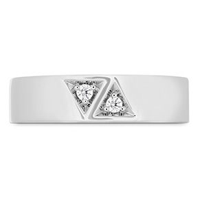 Triplicity Triangle Double Diam Band 6mm
